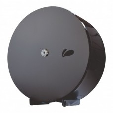 Porta Papel Higienico Rolo Aço Inox Titanium Black 500m