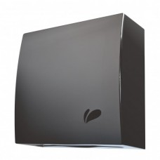 Toalheiro Inox Titanium preto Consultorio Papel Toalha 1000 Folhas