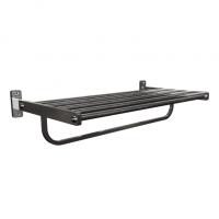 Porta Toalha aluminio 6 barras Banheiro 50cm Luxo
