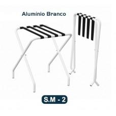 Suporte De Malas Dobrável Aparador Levevida Alumínio Branco