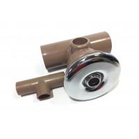 Jato T Duplo Direcional Banheira Sanspray Metal Cromado