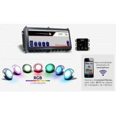 Controlador Iluminação E Bomba Piscina via Celular Wifi Sinapse